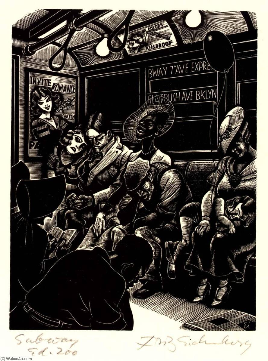 Order Art Reproductions | The Subway, 1934 by Fritz Eichenberg | ArtsDot.com