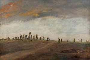 Alfred Balding - A Large Number of Standing Stones