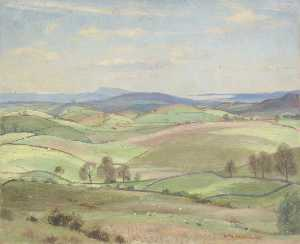 William Lionel Waddington - Spring near Kendal, Sedbe..