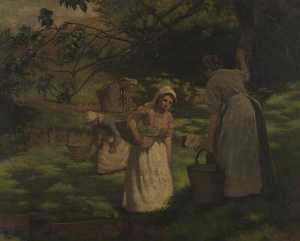 Leonard Frank Skeats - Watercress Gatherers