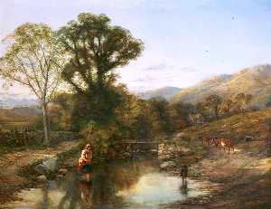 Thomas Creswick - Landscape, Morning (also ..