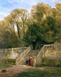 Thomas Creswick - Haddon Hall Steps, Derbys..