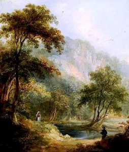Thomas Creswick - High Tor, Matlock, Derbys..
