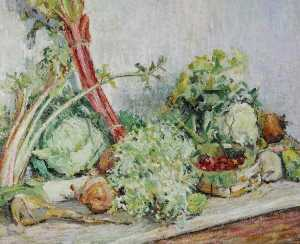Louise Pickard - Still Life, Vegetables