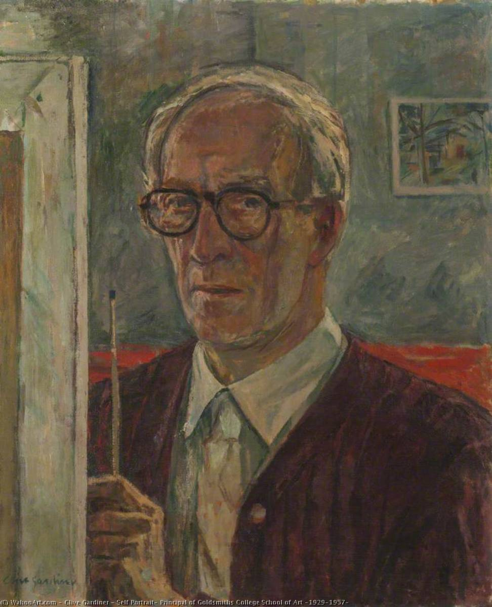 Self Portrait, Principal of Goldsmiths College School of Art (1929–1957) by Clive Gardiner | Museum Art Reproductions Clive Gardiner | ArtsDot.com