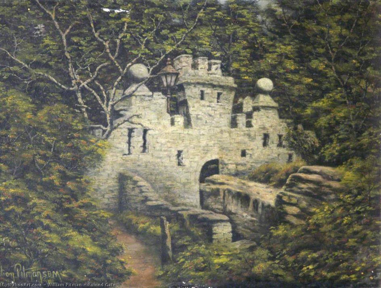 Ruined Gate by William Pitman | Painting Copy | ArtsDot.com