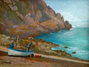 Ken Symonds - Fishermen at Pemberth