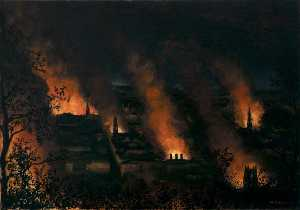 Wilfred Stanley Haines - Fire Blitz on Bath