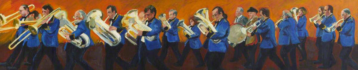 Fulham Marching Band by Rosie Sayers | Art Reproductions Rosie Sayers | ArtsDot.com