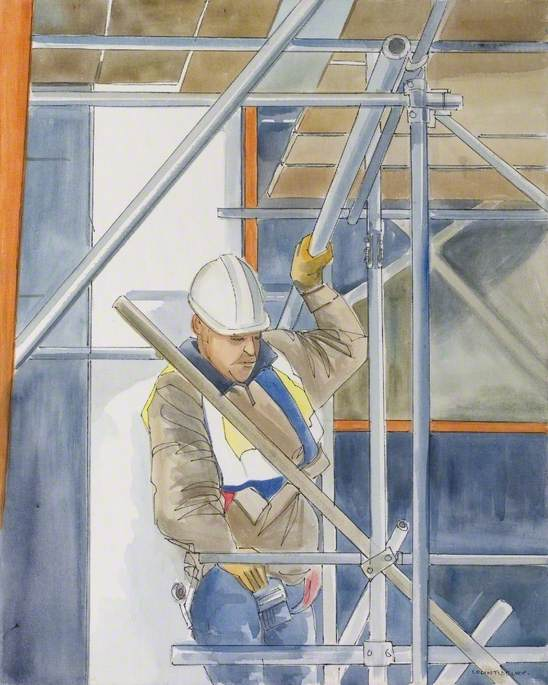 On the Scaffolding, 2007 by Colin David Tidbury | Art Reproduction | ArtsDot.com