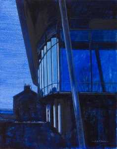 Colin David Tidbury - Pool Building by Night