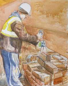 Colin David Tidbury - Cutting a Brick