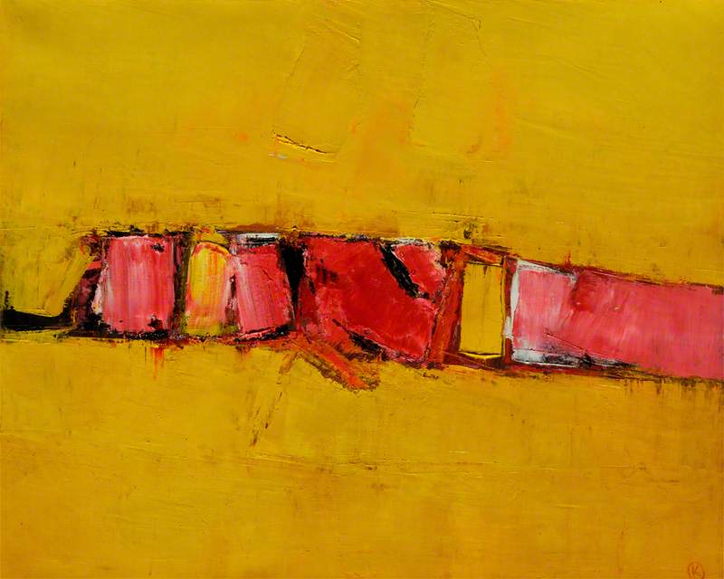 Landscape on Gold and Pink by Peter Kinley | Art Reproduction | ArtsDot.com