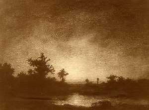 Ralph Albert Blakelock - Sunburst, (painting)