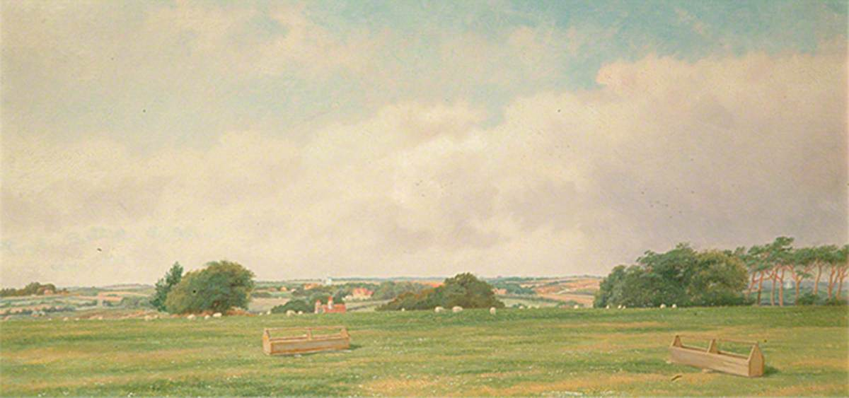 View from Millfield, Bexhill, East Sussex, 1899 by Charles A Graves | Oil Painting | ArtsDot.com