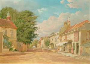 Charles A Graves - High Street, Old Bexhill, East Sussex