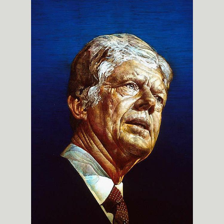 Jimmy Carter, 1980 by Ross Barron Storey | Painting Copy | ArtsDot.com