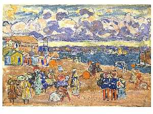 Maurice Brazil Prendergast - Beach at Saint Malo