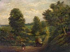 Herbert John Rylance - Hollow Lane near Stonelei..