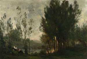 Charles François Daubigny - Willows