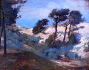William Henry Howe - Dunes and Scrub Pine, (painting)