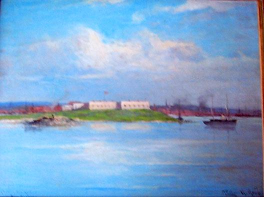 Order Art Reproductions | Ft. Trumbull, (painting), 1907 by William Henry Howe (1827-1911) | ArtsDot.com