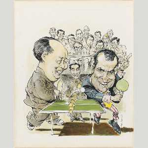 Mort Drucker - Mao Tse Tung and Richard ..