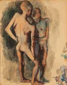 Pavel Tchelitchew - Study for Children Two Nu..