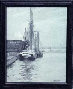 Howard Everett Smith - Boston Harbor, (painting)