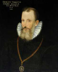 Rowland Lockey - George Talbot (1528–1590), 6th Earl of Shrewsbury (after an earlier painting of 1580)