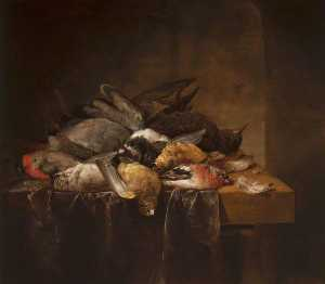 Cornelis Van Lelienbergh - Dead Songbirds on a Table