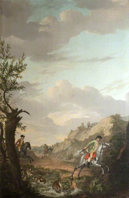 A Stag Hunt, 1779 by Gerrit Malleyn (1753-1816) | Painting Copy | ArtsDot.com