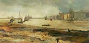 Charles John Watson - Dirty Weather near the Mouth of the Yare, Norfolk