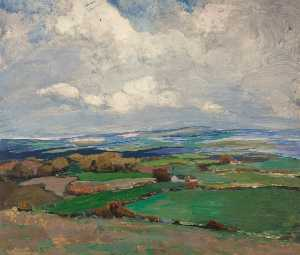 Gertrude Harvey - Landscape (recto)