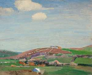 Gertrude Harvey - Farmhouse on a Mound
