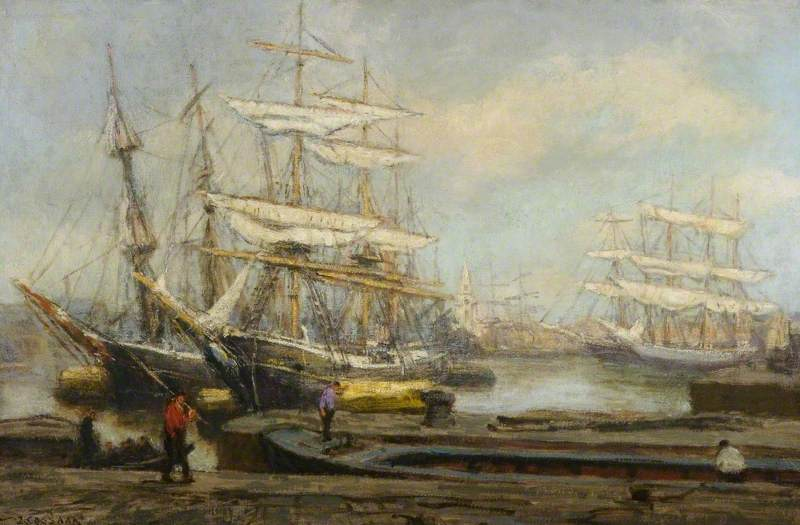 Order Reproductions | Rotterdam Boats by Jacobus Cornelis Wyand Cossaar | ArtsDot.com