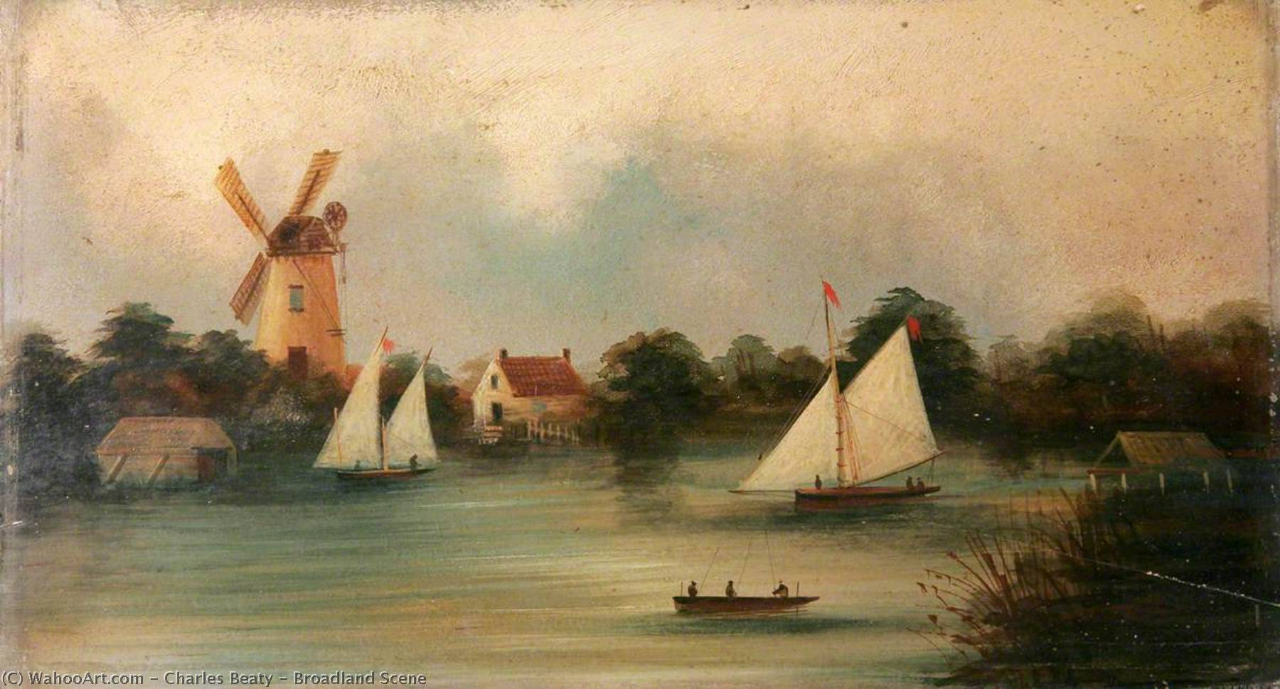Broadland Scene, 1887 by Charles Beaty | Art Reproductions Charles Beaty | ArtsDot.com