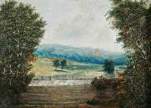 William Philip Barnes Freeman - Costessey Weir, Norfolk, with View of Costessey Hall