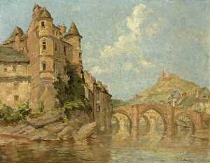 Isobelle Ann Dods Withers - Château and Two Bridges