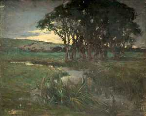 Giffard Hocart Lenfestey - Evening, the Stream