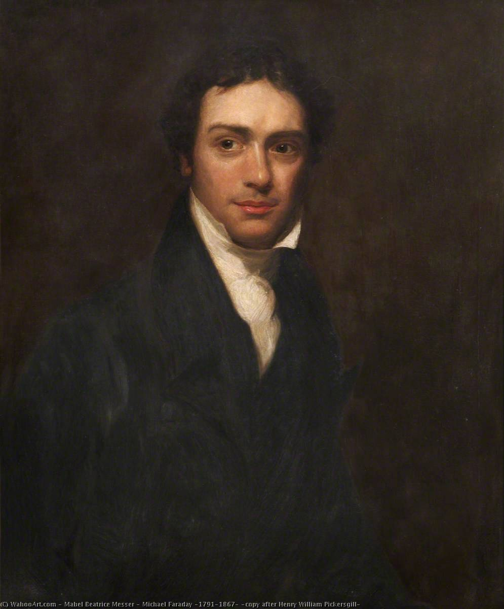 Order Reproductions | Michael Faraday (1791–1867) (copy after Henry William Pickersgill), 1931 by Mabel Beatrice Messer | ArtsDot.com