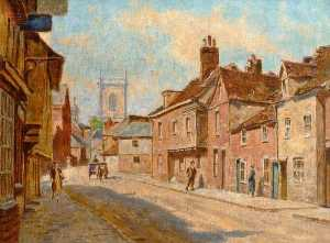 Walter J Stamps - View of St Mary's Street ..
