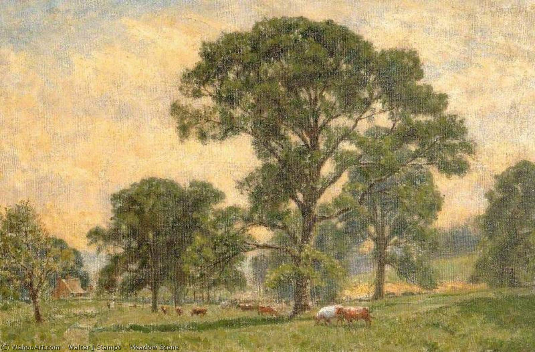 Order Art Reproductions | Meadow Scene by Walter J Stamps | ArtsDot.com