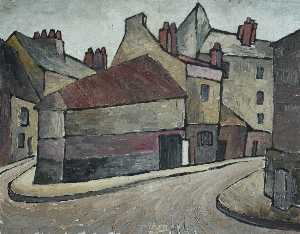 Kathleen Cicely Melzi - View of Dieppe, Normandy ..