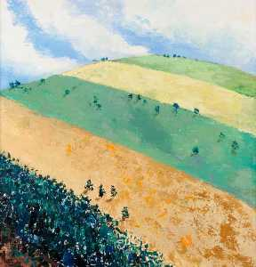 Louise Gibson Annand - Striped Field, Strathdon