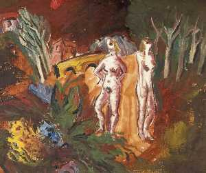 Walter G Poole - Two Female Nude Figures i..