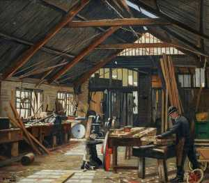 Francis Kenneth Elwell - The Wheelwright-s Shop