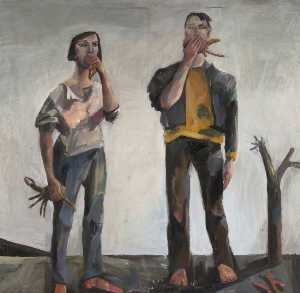 Janice Mcnab - Two People with Crabs