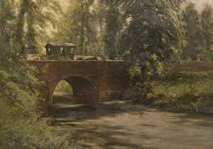 Alfred Ernest Buckner - The Bridge, Park Road, Lu..
