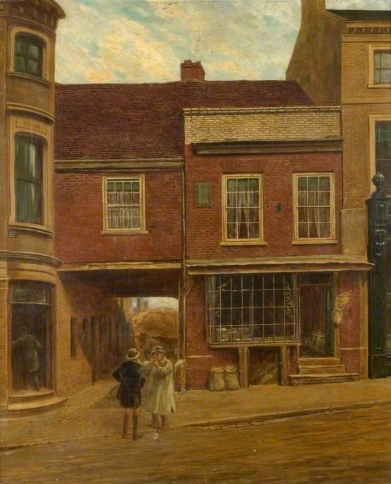 A View of Seabrook`s House, Market Hill, Luton, Bedfordshire by Alfred Ernest Buckner | Museum Art Reproductions Alfred Ernest Buckner | ArtsDot.com